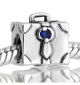 Abalorio maleta con piedra azul
