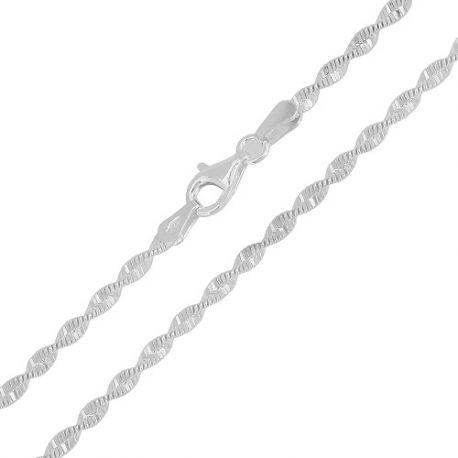 0cf6caa3b705 Compra al mejor precio Cadena de plata de ley torcida en la tienda de  joyeria de plata Mi Plata