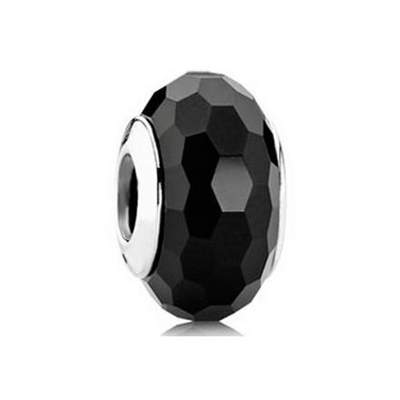 *Cristal tallado negro