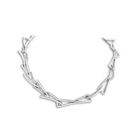 Collar triangulos doblados 70014