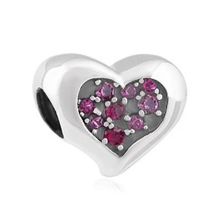 ABALORIOS con piedras rosas