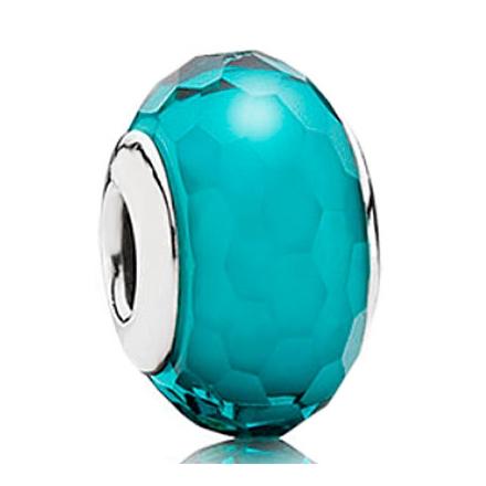 *Cristal tallado turquesa