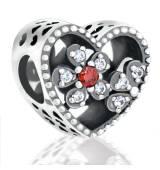 Abalorio corazon con piedras