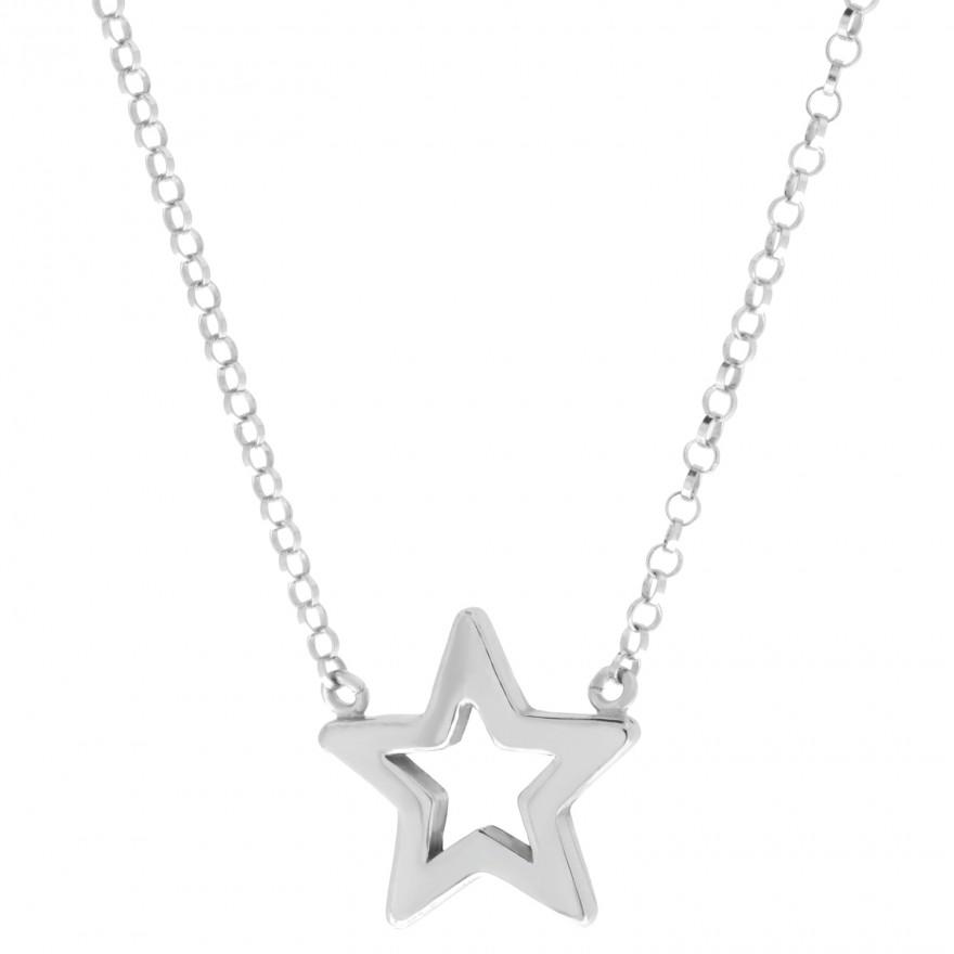 915e3ce586a8 Collar estrella con cadena de plata - Mi Plata