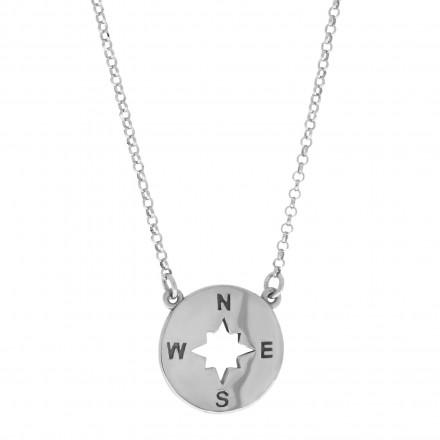 Collar puzle de plata con cadena