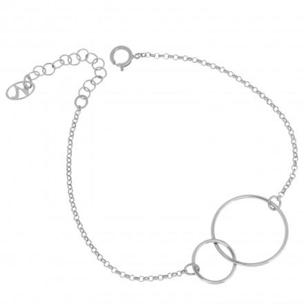 Collar hermanas de plata con cadena
