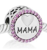 Te quiero mama con piedras rosa