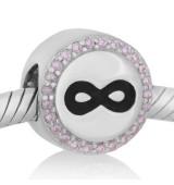 Abalorio infinito con piedras rosa