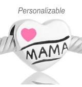 Corazon Te quiero mama rosa personalizable