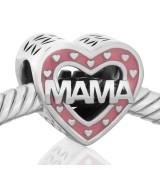 Corazon mama esmalte rosa