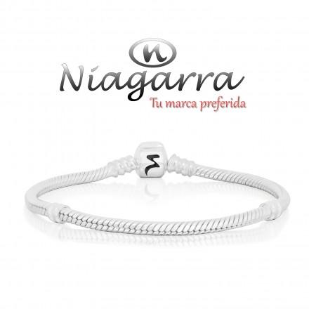 Pulsera Niagarra de plata 22 cm.