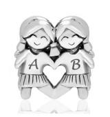 Abalorio amistad, amigas, dos niñas