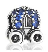 Abalorio carroza con piedras azules