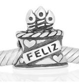 Abalorio tarta feliz cumple