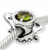 Abalorio taza piedra natural verde