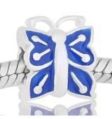 ABALORIO MARIPOSA esmalte azul